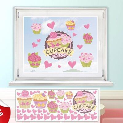 Graz Design Glastattoo-Set Cupcake Love, Herzen, Muffins