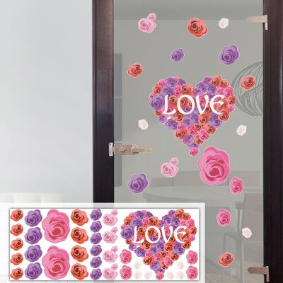 Graz Design Glastattoo-Set Love, Herzen, Rosen