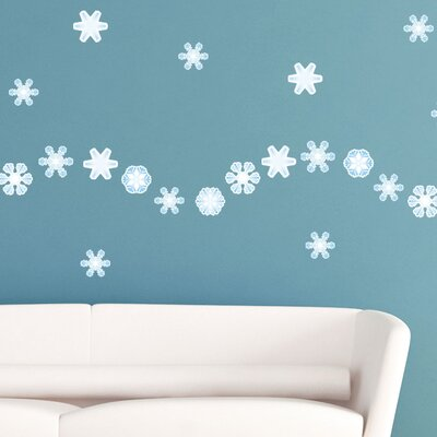 Graz Design Wandsticker-Set Set Schneeflocken