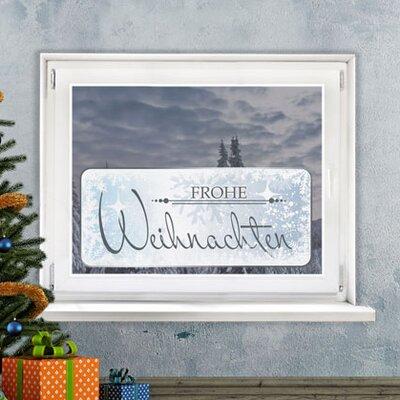 Graz Design Glastattoo Frohe Weihnachten, Eisblumen