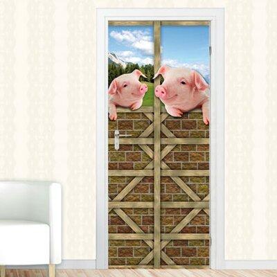 Graz Design Türaufkleber Schweine, Stalltür
