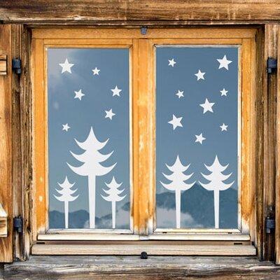 Graz Design Glastattoo Weihnachten, Tannebäume