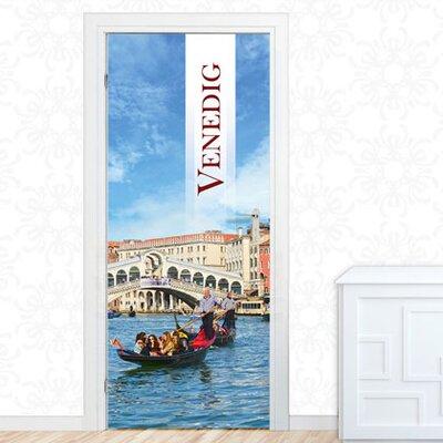 Graz Design Türaufkleber Venedig, Gondeln