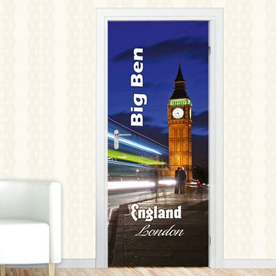 Graz Design Türaufkleber Big Ben, England, London