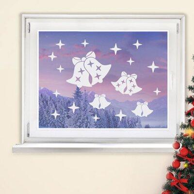 Graz Design Glastattoo Weihnachten, Glocken, Sterne
