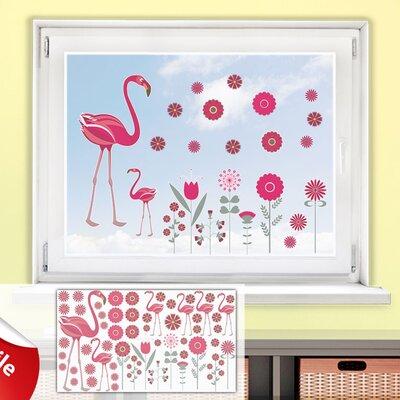 Graz Design Glastattoo-Set Flamingos, Blumen