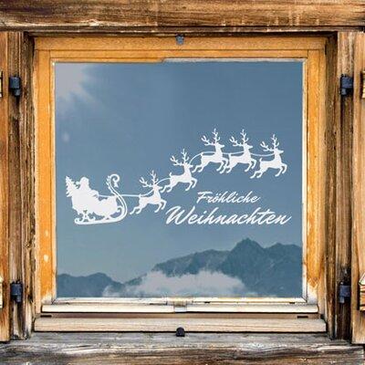 Graz Design Glastattoo Fröhliche Weihnachten