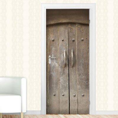 Graz Design Türaufkleber Alte Tür, Holztor