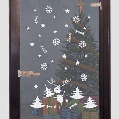 Graz Design Glastattoo Weihnachten, Rentier, Sterne