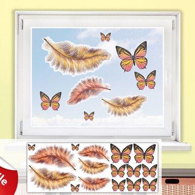 Graz Design Glastattoo-Set Federn, Schmetterlinge