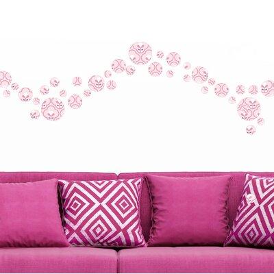 Graz Design Wandsticker-Set Blumen Polka Dots