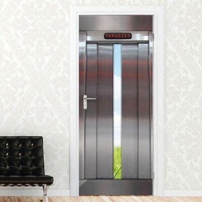 Graz Design Türaufkleber Fahrstuhltür, Wiese