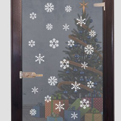 Graz Design Glastattoo Weihnachten, Eiskristalle
