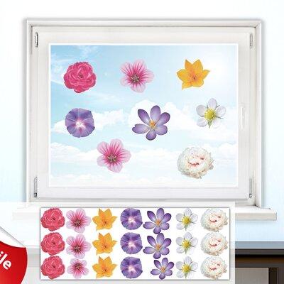 Graz Design Glastattoo-Set Blüten, Pflanzen
