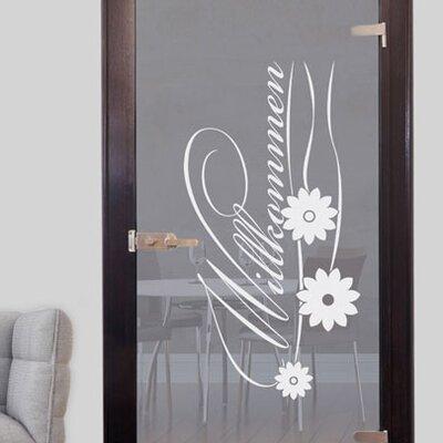 Graz Design Glastattoo Willkommen, Blüten