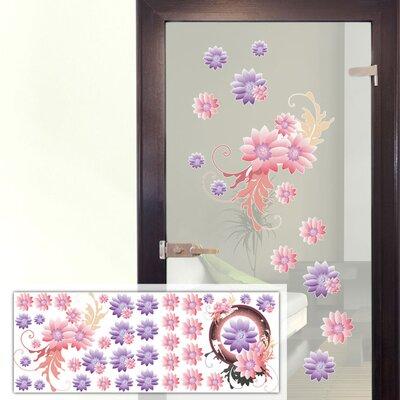 Graz Design Glastattoo-Set Blumen