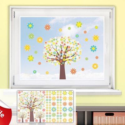 Graz Design Glastattoo-Set Bäume, Blumen