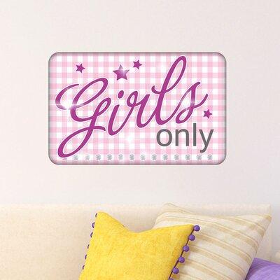 Graz Design Wandsticker Girls only