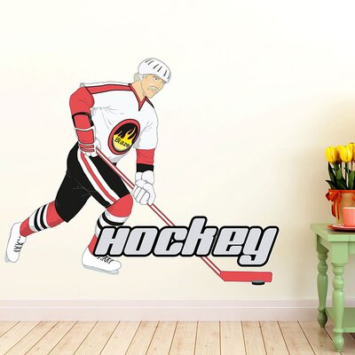 Graz Design Wandsticker Hockey, Spieler
