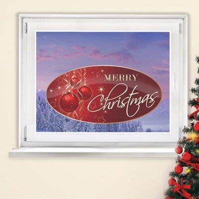 Graz Design Glastattoo Merry Christmas, Sterne, Kugeln