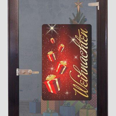 Graz Design Glastattoo Weihnachten, Geschenke, Sterne