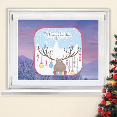 Graz Design Glastattoo Merry Christmas, Rentier, Sterne