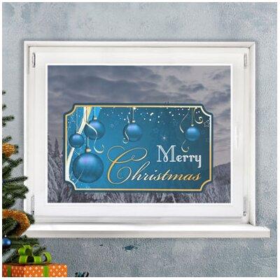 Graz Design Glastattoo Merry Christmas, Kugeln, Sterne