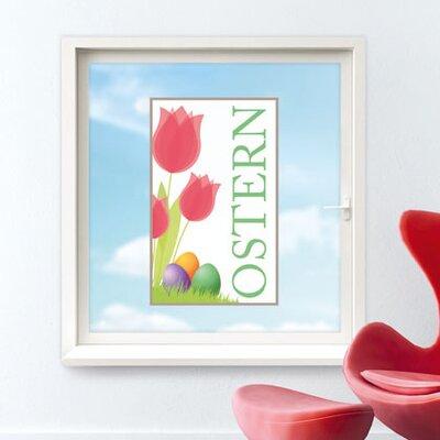 Graz Design Glastattoo Ostern, Tulpen, Blumen