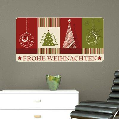 Graz Design Wandsticker Frohe Weihnachten, Tannenbäume