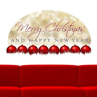 Graz Design Wandsticker Merry Christmas And Happy New Year