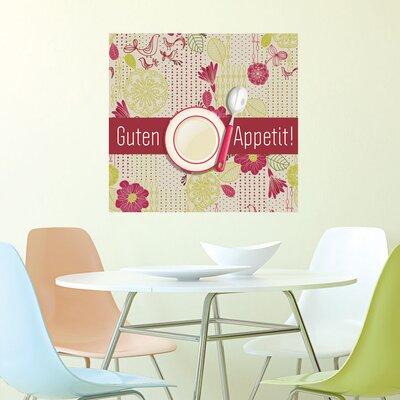 Graz Design Wandsticker Guten Appetit!, Löffel, Teller