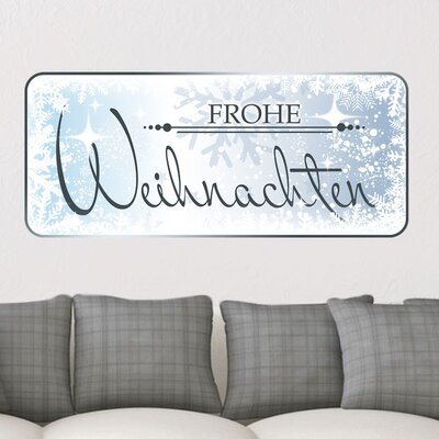 Graz Design Wandsticker Frohe Weihnachten, Schneekristalle