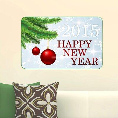 Graz Design Wandsticker Happy new Year 2015, Tanne