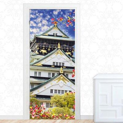 Graz Design Türaufkleber Asiatischer Tempel, Blumen