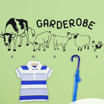 Graz Design Garderobenhaken Bauernhof, Tiere