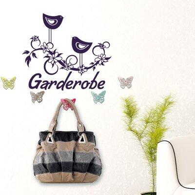 Graz Design Garderobenhaken Garderobe, Vögel, Blumen