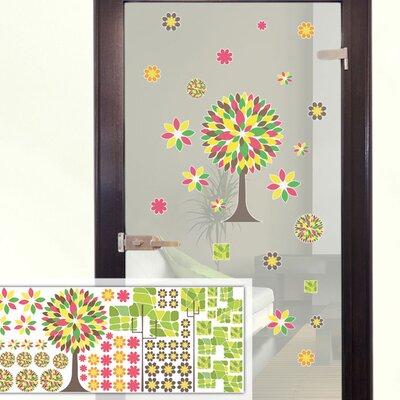 Graz Design Glastattoo-Set Bäume, Blumen, Blätter