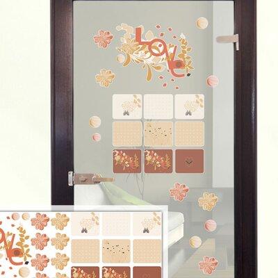 Graz Design Glastattoo-Set Love, Blumen
