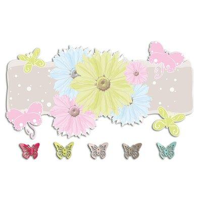 Graz Design Garderobenhaken Blumen, Schmetterlinge