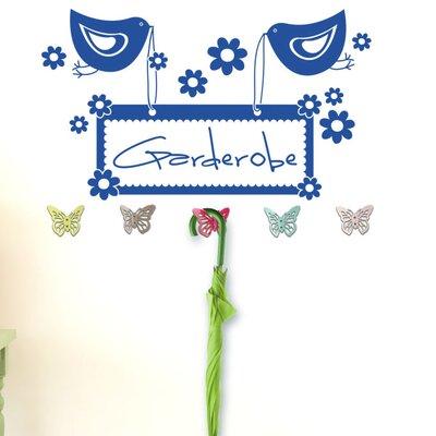 Graz Design Garderobenhaken Garderobe, Vögel, Blüten