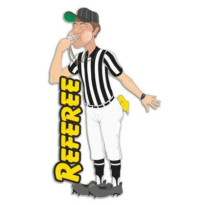 Graz Design Wandsticker Referee, Mann, Pfeife
