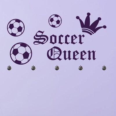 Graz Design Garderobenhaken Soccer Queen, Krone, Fußbälle