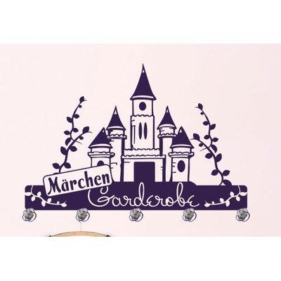 Graz Design Garderobenhaken Märchen, Schloss, Rosen
