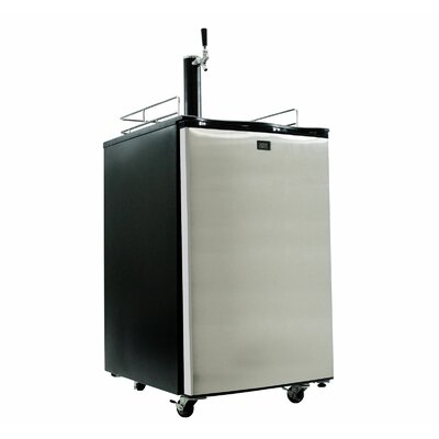 Single Tap Full Size Kegerator Finish: Stainless Steel
