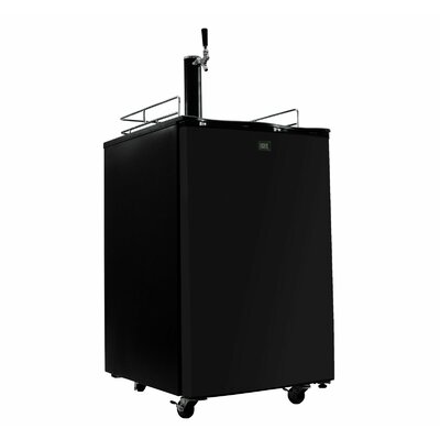 Single Tap Full Size Kegerator Finish: Black