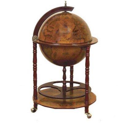 Stricker Antique Reproduction Sixteenth-Century Italian Old World Globe Mini Bar