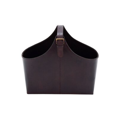 Kingston Oval Magazine Holder Color: Espresso
