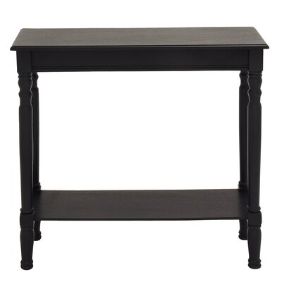 Urban Designs Elise Console Table Color: Charcoal