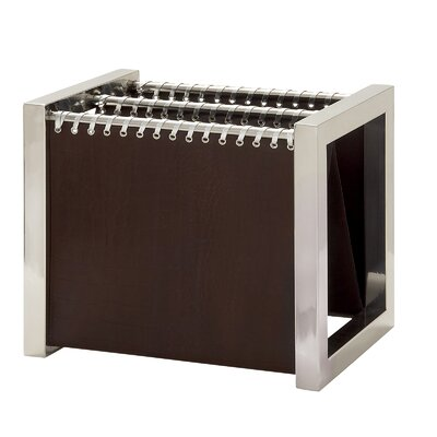 Urban Designs Leather and Steel Magazine Rack