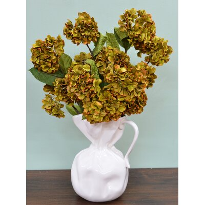 Faux Hydrangea Stems Flower/Leaves Color: Green